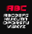 sport font alphabet bold italics letters vector image vector image