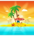 Surfing Beach Concept vector image