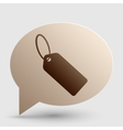 Tag sign Brown gradient icon on vector image vector image