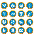 travel brazil icons set simple style vector image vector image