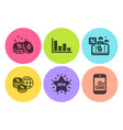 travel loan new star and bitcoin icons set vector image