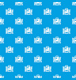 travel suitcase pattern seamless blue vector image vector image