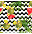 tropical abstract color and green palm leaves vector image vector image
