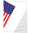 us flag stars symbols background vector image vector image