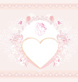 valentine stylish card vector image vector image