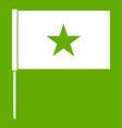vietnam flag icon green vector image vector image