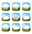 Weather apps icons vector image vector image