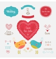 Wedding invitation collection vector image vector image