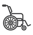 wheelchair line icon medicine and healthcare vector image vector image
