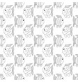 white funny fish seamless pattern vector image vector image