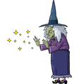 witch conjures vector image vector image