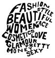 Woman life concept vector image