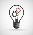 icons light bulb with mechanical gears vector image