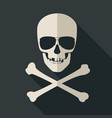 skull and crossbones with sunglusses vector image
