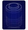 3d model of barrel on a blue vector image vector image