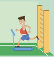 a man on a treadmill vector image
