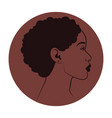african woman in minimalistic style vector image