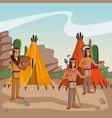 american indian tribe vector image vector image