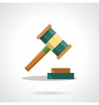 Auction gavel flat color icon vector image vector image