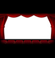 auditorium with seating red curtain vector image vector image