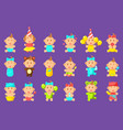 babies an toddles sticker set vector image vector image