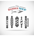 Barber shop pole vector image vector image