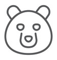 bear line icon animal and zoo vector image vector image