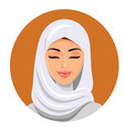 beautiful muslim woman in hijab closing her eyes vector image vector image