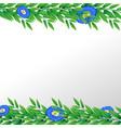 blue flower nature border vector image vector image