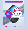 business brochure cover design template abstract vector image vector image