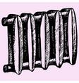 cast iron radiator vector image vector image