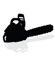 chainsaw black silhouette vector image vector image