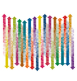 chekered gradient arrows vector image vector image