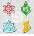 christmas sale design template vector image