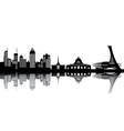 Cityscape silhouette vector image vector image