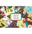 Creative kids lab vector image