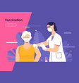 depicting a female doctor vector image