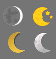 different moon nature cosmos cycle satellite vector image vector image