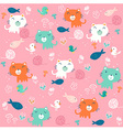 Fancy Cat pink pattern vector image