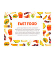 fast food banner template with place for text vector image