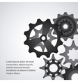 gear cog machine part set design vector image vector image