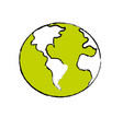global earth plenet with geography ubication vector image vector image