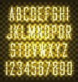 glowing yellow neon casual script font vector image vector image