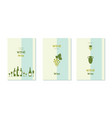 grape vines and winery objects banners set vector image