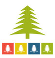 green spruce new year icon vector image