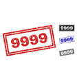 grunge 9999 textured rectangle watermarks vector image vector image
