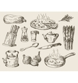 hand drawn food sketch vector image vector image