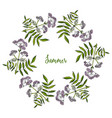 hand drawn summer wreath vector image vector image