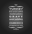 happy thanksgiving menu greeting card