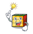 have an idea rubik cube mascot cartoon vector image vector image